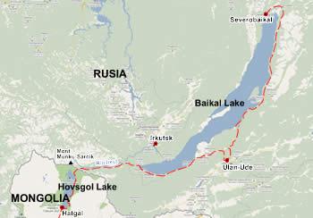 Ruta inicial Baikal Khovsgol